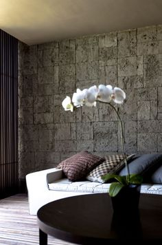Love the great contrast with the natural wall!  Alila Villas Soori by SCDA Architects » CONTEMPORIST