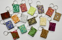 From my Etsy shop https://www.etsy.com/listing/549245625/mini-lokta-journal-key-chains-made-in #sustainable #handcrafted # natural