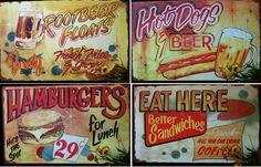 Retro diner food signs diner sign, food, retro diner, kitchen