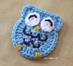 Repeat Crafter Me: O is for Owl: Crochet Owl Applique en de rest van het dierenalfabet!