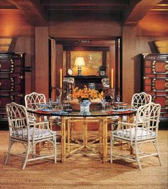 A Rare McGuire Faux Twig Games Table U0026 4 Chairs | Vineyard Estate |  Pinterest | Game Tables