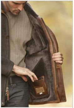 Gorgeous shearling sheepskin jacket for men **SEE THIS JACKET & many more http://www.perfect-gift-store.com/best-winter-jackets-for-men.html