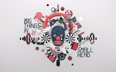 """""""big things in a small head"""" by Mateusz Krolhttp://www.behance.net/gallery/big-things-in-a-small-head/6070889"""