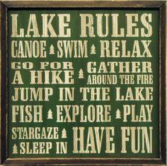 Lake rules; @Chandler Baskin- make for mom for Ellijay?