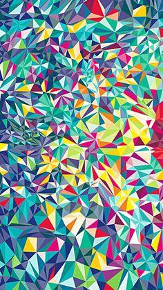 Geometric phone wallpaper
