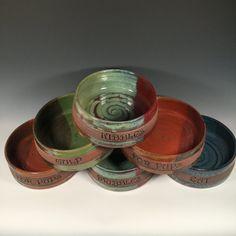 Personalized 1 Medium Dog dish One Custom Bowl by FattyFrogPots
