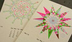 Studio on Fire 2014 Letterpress Calendar