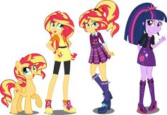 EqG AU Sunset Shimmer and Twilight Sparkle by xebck on DeviantArt