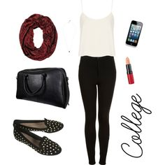 """""""First day of college idea"""" by paintedpalms on Polyvore"""