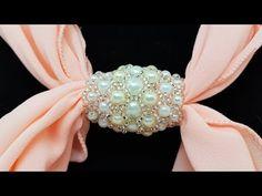 Natali Amapola - YouTube Beaded Brooch, Beaded Rings, Beaded Necklace, Beaded Bracelets, Scarf Jewelry, Seed Bead Jewelry, Pendant Jewelry, Beaded Jewelry Designs, Handmade Jewelry