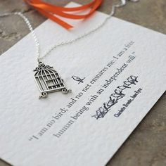 Jane Eyre inspired birdcage necklace
