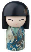 "Kimmidoll™ Yoshiko - 'Good Luck' - ""My spirit is generous and grateful. Hina Dolls, Kokeshi Dolls, Momiji Doll, Geisha Art, Arts And Crafts, Paper Crafts, Japanese Geisha, Japan Art, Wooden Dolls"