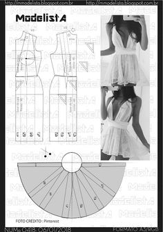 Amazing Sewing Patterns Clone Your Clothes Ideas. Enchanting Sewing Patterns Clone Your Clothes Ideas. Dress Sewing Patterns, Clothing Patterns, Pattern Dress, Diy Clothing, Sewing Clothes, Fashion Sewing, Diy Fashion, Costura Fashion, Modelista