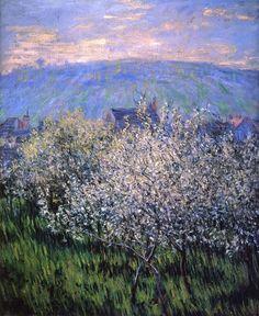 Pruniers en fleurs (C Monet - W 519),1879