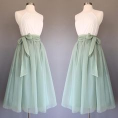 yyAyydyy Sage green chiffon skirt tea length Bridesmaid skirt floor length knee length green chiffon skirt SASH is additional charge shopVmarie 5 out of 5 stars Mode Outfits, Skirt Outfits, Dress Skirt, Dress Up, Midi Skirt, Waist Skirt, High Waisted Skirt, Pretty Outfits, Pretty Dresses