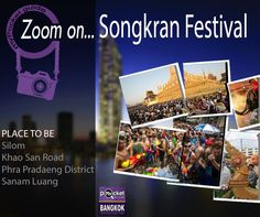« ZOOM ON... Songkran Festival », your weekly dose of inspiration!  In #Bangkok‬, #Songkran‬ will takes place between the 13th till 15th of April (three days national holiday), although in reality, celebrations often last the entire week!  Bangkok offers you unlimited possibilities to spend an unforgettable week end for the #Thai #New #Year. .  Check our Fb page to get few advices to enjoy the most colourful and festive times of the year in Bangkok : http://lc.cx/V9A