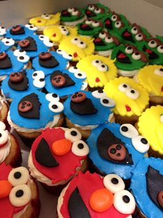 The whole Sesame Street crew cupcakes toppers. All handmade