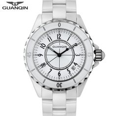32.51$  Buy here - http://aiwia.worlditems.win/all/product.php?id=32421497809 - Relojes Mujer 2016 GUANQIN Quartz Watch Women Waterproof White Ceramic Watches Brand Luxury Ladies Watch relogio feminino