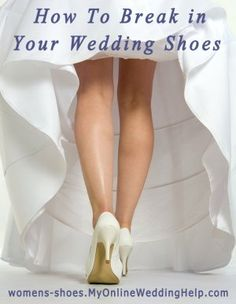 This is for my daughter, don't want you to make the mistake I did on my wedding day. Oh, how my feet hurt my wedding night!