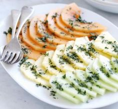 Pineapple + Melon with Mint Sugar.