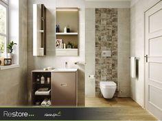 Küçük banyolar için büyük depolama alanları sunan Kale Little Big mobilya serisi #RestoreMağazalarında