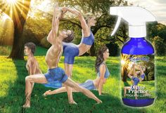 A natural, practical cleaning spray for yoga and workout mats including gym equipment. Yoga Mat Cleaner, Blue Glass Bottles, Cleaning Spray, Copaiba, Yoga Gifts, Mat Exercises, Pure Essential Oils, Our Body, Tea Tree