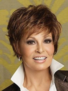 Sparkle by Raquel Welch Wigs - Short Hair Styles Formal Hairstyles For Short Hair, Shaggy Short Hair, Mom Hairstyles, Shaggy Hairstyles, Layered Hairstyles, Hairstyle Hacks, Short Pixie, Short Shag, Curly Pixie