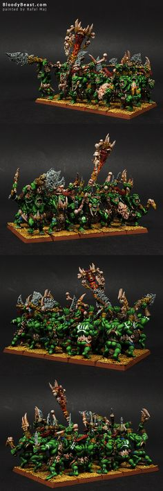 Savage Orcs painted by Rafal Maj (BloodyBeast.com)