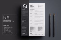 Resume/CV by deviserpark on RESUME is the perfect way to make the best impression. Strong typographic structure and very easy to use and customize this cv. Clean and Simple CV/Resume & Cover Letter ❤ Affiliate ad link. Modern Resume Template, Creative Resume Templates, Cv Template, Design Templates, Website Template, Cover Letter Template, Cover Letter For Resume, Letter Templates, Microsoft Word