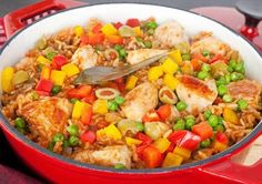 Flat Belly Diet Recipes: Chicken and Yellow Rice Casserole