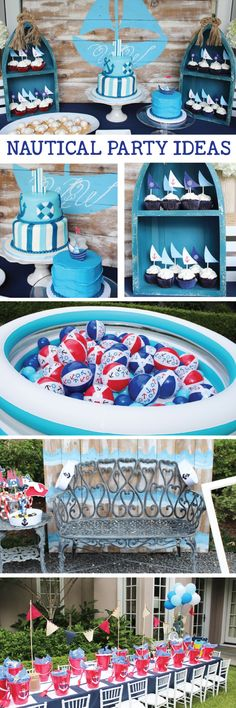 Nautical 1st Birthday Party Ideas See More On Our Blog Nauticaltheme Nauticalparty