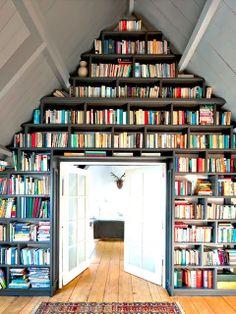 Built in bookshelf : home library
