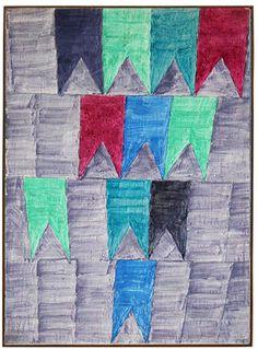 Flags(dec.70) - Alfredo Volpi.