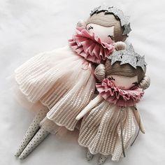 And sweet Sister Set, in store tomorrow xx #littlemisstippytoes #sisters #clothdolls #ahndmadedolls