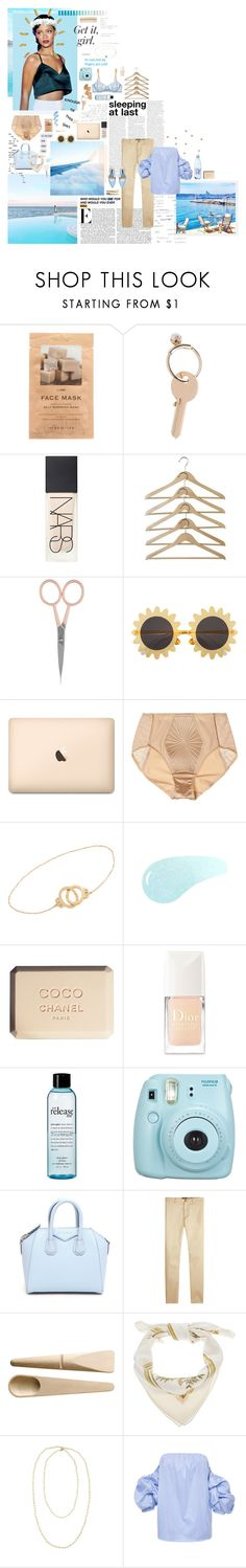 """""""So? A football is made of leather! Are you saying all footballs are suspicious because they are made of leather!?"""" by homemadedynamite ❤ liked on Polyvore featuring Merritt, H&M, Maison Margiela, NARS Cosmetics, Anastasia Beverly Hills, GET LOST, La Perla, Jack Vartanian, Urban Decay and Chanel"""