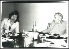 Mick Jagger with author William Burroughs
