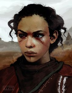 My new skyrim character! She's half Redguard, half Nord Girls Characters, Dnd Characters, Fantasy Characters, Female Characters, Fantasy Portraits, Character Portraits, Character Art, Character Design, Character Creation