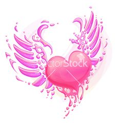 pink-heart-with-wings-vector-764343.jpg (380×400)