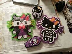 Halloween Hello Kitty Perler beads by MdngtRain