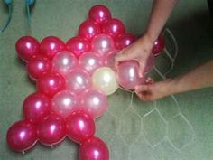 great way for balloon display!