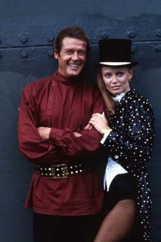 Roger Moore and Kristina Wayborn (Octopussy - 1983)