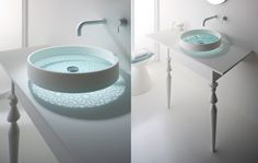 Omvivo Etched Glass Wash Basin.  This is really beautiful to me.