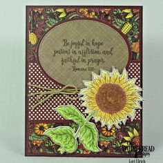 Our Daily Bread Designs - Be a Sunflower stamp set and coordinating Sunflower Die, Follow the Son Paper Pad, Fall Favorites Paper Pad, Dies - Ovals, Pierced Ovals, Pierced Rectangles