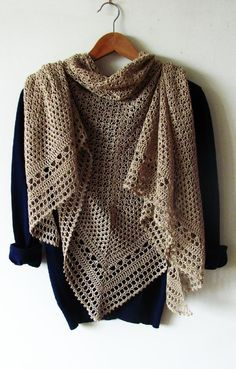 • Hourglass is a big, beautiful triangle-shaped shawl worked from top to down…