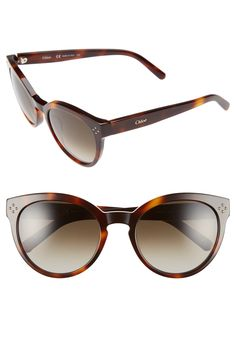 Chloé 'Boxwood' 54mm Round Sunglasses