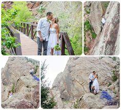 Lindsay + Ryan, Eldorado Canyon State Park Wedding  http://www.raynamcginnisphotography.com/best-of-2015-colorado-wedding-pictures/  Rock Climbing Wedding, Climbing Wedding Photographer, Eldo, Mountain Wedding Inspiration