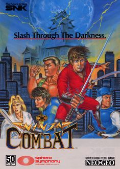 The Arcade Flyer Archive - Video Game Flyers: Ninja Combat, ADK (Alpha Denshi) Snk Games, 90s Video Games, Make A Flyer, Neo Geo, The Future Is Now, Graphic Design Trends, Amusement Park, Ninja, Games