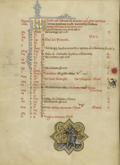 Scorpio zodiac sign missal manuscript (Bologna, 1389-1404), Getty  http://www.getty.edu/art/collection/objects/1506/master-of-the-brussels-initials-missal-italian-between-1389-and-1404/