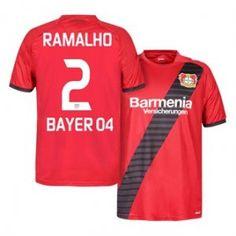 Bayer Leverkusen 16-17 Season Away Red #2 RAMALHO Soccer Jersey [H258]