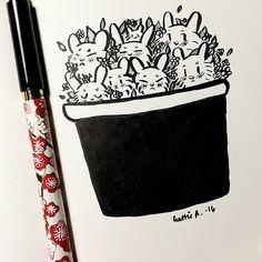 (Art By: GATCHUU) Bunny Pot 🐰🌿  #cute #illustration #art #inspiration #adorable #ink #pen #illustrations #cartoon #anime #moe #sketch #doodles #doodling #pencil #doodling #sketchbook #gatchuu #illustration #art #rkgk #sketch #sketches #sketching #cute #love #bunnies #ink #brushpen #instaart #cartoon #flowers #leaves #pot #anime #cartoon #pot #doodle #doodling #gatchuu